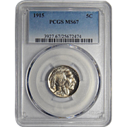 1915 Pcgs MS67 Buffalo Nickel