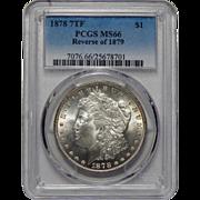 1878 7TF Reverse of 1879 Pcgs MS66 Morgan Dollar