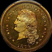 1879 Pcgs PR65CAM $4 Flowing Hair Stella Gold
