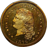 1879 Pcgs PR65CAM $4 Flowing Hair Stella Gold