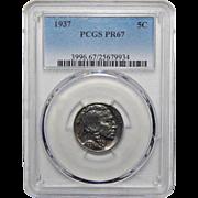 1937 Pcgs PR67 Buffalo Nickel