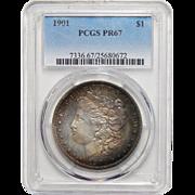 1901 Pcgs PR67 Morgan Dollar