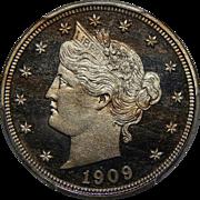 1909 Pcgs PR66DCAM Liberty Nickel