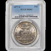 1877-S Pcgs MS64 Trade Dollar