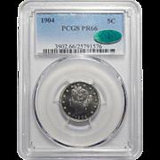 "1904 Pcgs/Cac PR66 Liberty ""V"" Nickel"