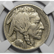1917-D Ngc VF30 Buffalo Nickel