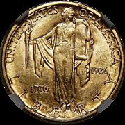 1926 Ngc AU58 $2.50 Sesquicentennial Gold