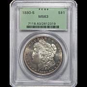 1880-S Pcgs MS63 Morgan Dollar