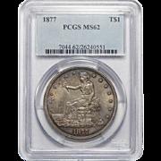 1877 Pcgs MS62 Trade Dollar