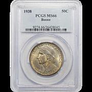 1938 Pcgs MS66 Boone Half Dollar