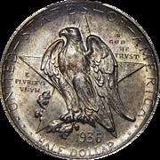 1936-D Pcgs MS65 Texas Half Dollar