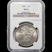 1885-CC Ngc MS63 Morgan Dollar