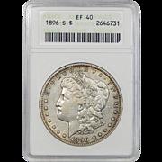 1896-S Anacs XF40 Morgan Dollar