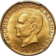 1916 Pcgs MS65 $1 McKinley Gold