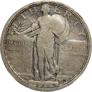 1916 Ngc VG Details, Improperly Cleaned Standing Liberty Quarter