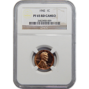 1942 Ngc PF65RD Cameo Lincoln Wheat Cent