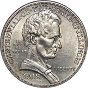 1918 Anacs MS61 Lincoln Half Dollar