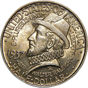 1937 Anacs MS64 Roanoke Half Dollar