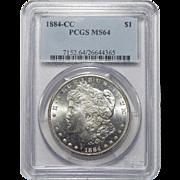 1884-CC Pcgs MS64 Morgan Dollar