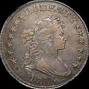 1798 Pcgs XF40 Large Eagle Draped Bust Dollar