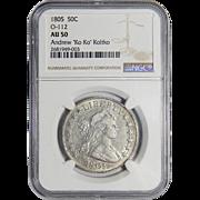 1805 Ngc AU50 Draped Bust Half Dollar