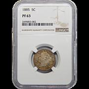 1885 Ngc PF63 Liberty Nickel