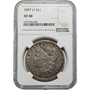 1897-O Ngc XF40 Morgan Dollar