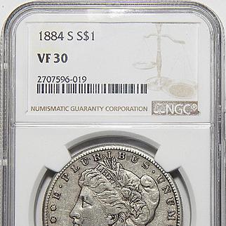 1884-S Ngc VF30 Morgan Dollar