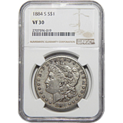 1884-S Ngc VF30 Morgan Dollar