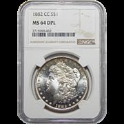 1882-CC Ngc MS64DPL Morgan Dollar