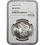 1882-CC Ngc MS64DPL Morgan Dollar