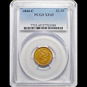 1844-C Pcgs XF45 $2.50 Liberty Head Gold