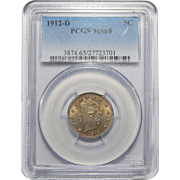 "1912-D Pcgs MS65 Liberty ""V"" Nickel"