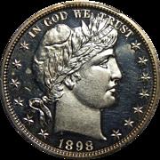 1898 Pcgs PR63CAM Barber Half Dollar