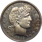 1895 Pcgs PR65 Barber Half Dollar
