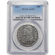 1829 Pcgs AU53 Capped Bust Half Dollar