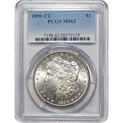 1890-CC Pcgs MS63 Morgan Dollar