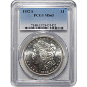 1882-S Pcgs MS65 Morgan Dollar