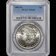 1883-O Pcgs MS65 Morgan Dollar