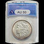 1897-O Anacs AU50 Morgan Dollar