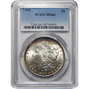 1900 Pcgs MS66 Morgan Dollar