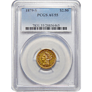 1879-S Pcgs AU55 $2.50 Liberty Head Gold