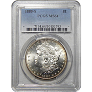 1885-S Pcgs MS64 Morgan Dollar