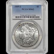 1889-S Pcgs MS62 Morgan Dollar