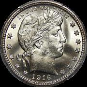 1916-D Pcgs MS66 Barber Quarter