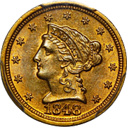1848-D Pcgs MS62 $2.50 Liberty Head Gold