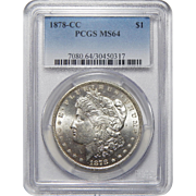 1878-CC Pcgs MS64 Morgan Dollar