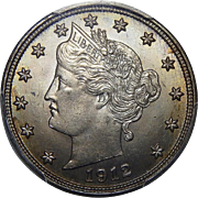 1912-S Pcgs MS65 Liberty Nickel