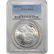 1878-CC Pcgs MS64 $1 Morgan Dollar