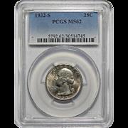 1932-S Pcgs MS62 Washington Quarter